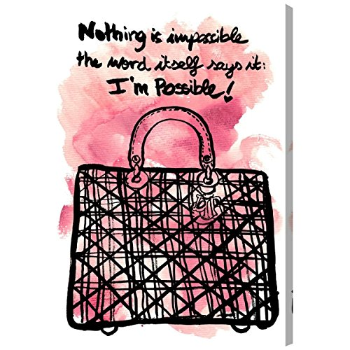 Nothing is Impossible by Oliver Gal | Modern fashion wall art