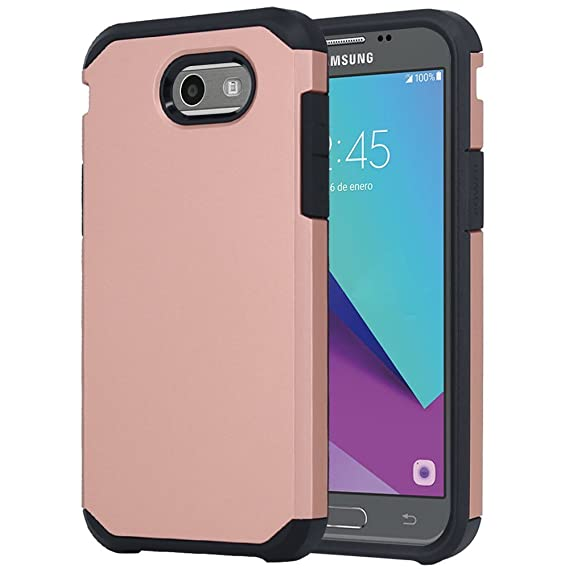 wholesale dealer 906f0 4c2be Galaxy J7 V Case, Galaxy J7 Prime Case, Galaxy J7 Perx Case, Galaxy J7 Sky  Pro Case, OEAGO Samsung Galaxy Halo 2017 Case Shockproof Drop Protection ...