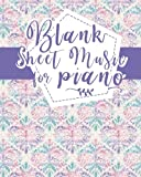 Blank Sheet Music for Piano: Blank Music Journal / Blank Music Composition Book / Blank Manuscript Book - Hydrangea Flower Cover (Volume 33)
