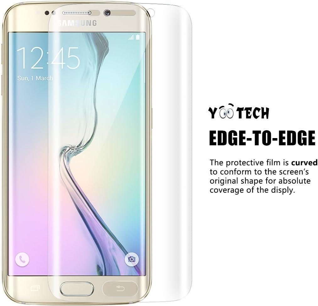 Galaxy S6 Edge Protector de pantalla, Yootech [2 Unidades] [anti-bubble] [HD Clear] curvada Edge To Edge Protector de pantalla para Samsung Galaxy S6 Edge, garantía de por vida: Amazon.es: Electrónica
