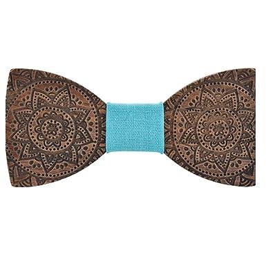 MJZHJD Pajarita for hombre, mujer, corbata de madera, cumpleaños ...