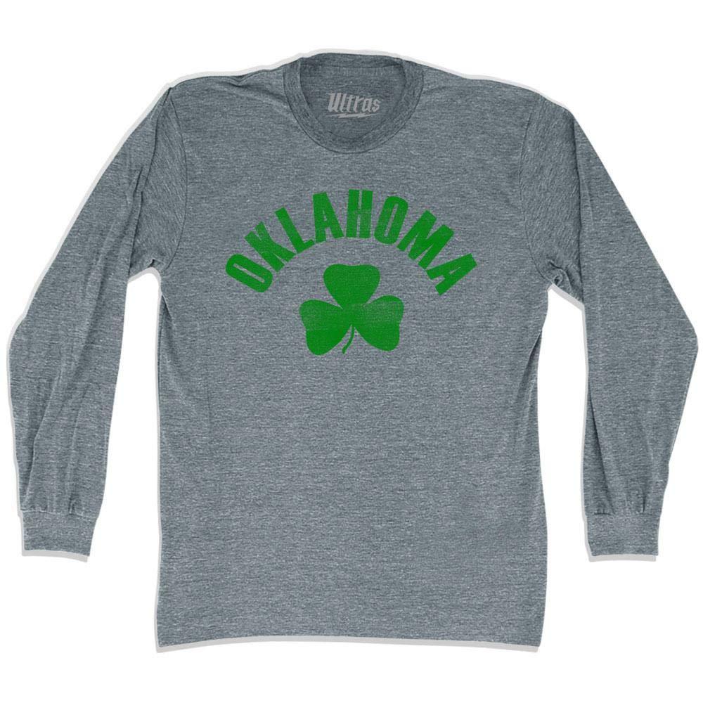 Oklahoma State Shamrock Tri-Blend Long Sleeve T-Shirt