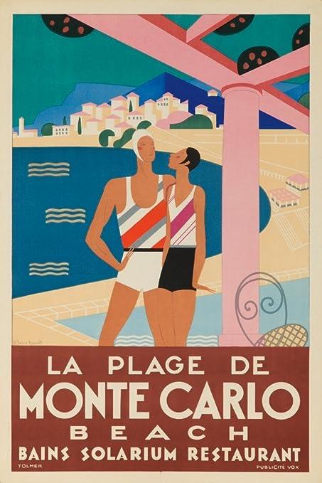 "Vintage /""Monte Carlo/"" Travel Poster"