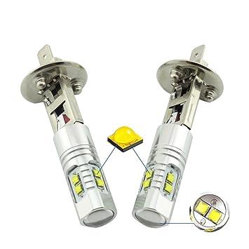 KaTur 50 W 2 x H1 LED Cree XBD Faros antiniebla Bombillas LED de Conducción Diurna