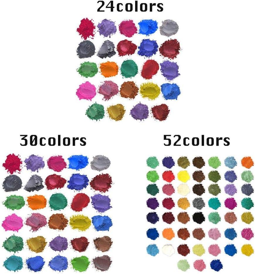 joyer/ía de Resina DIY Craft 24//30//52 Colores innate Bombas de ba/ño colorante fabricaci/ón de Velas Rubor Famed Pigmentos de Polvo de Mica colorante para Hacer jab/ón para Sombra de Ojos u/ñas