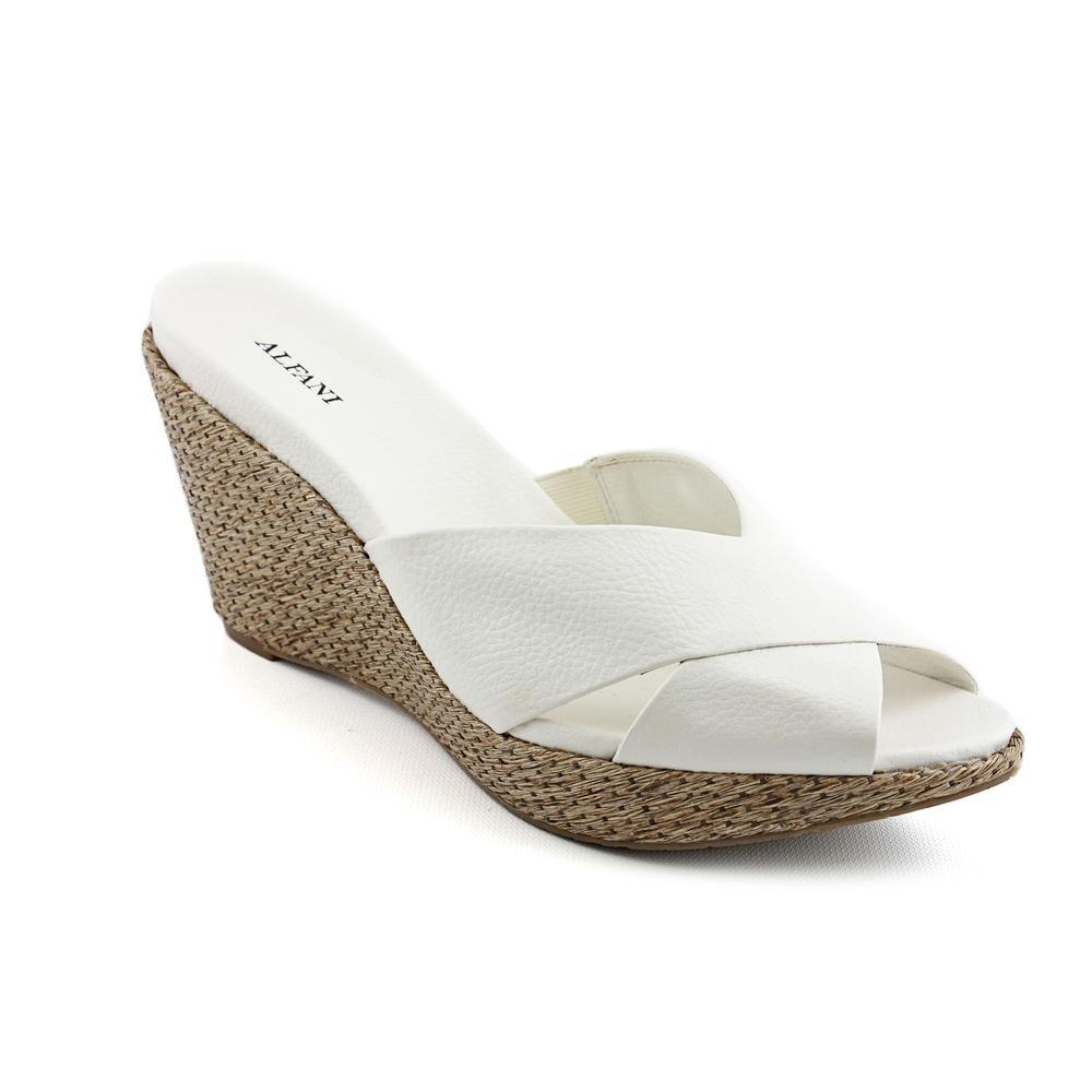 Alfani Women's Leon Slide Sandal B00C1QAW7C 8.5 B(M) US White