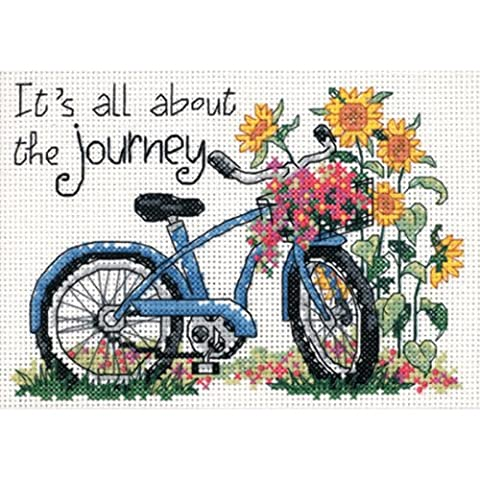 Dimensions Needlecrafts Counted Cross Stitch, The Journey - Floral Counted Cross Stitch