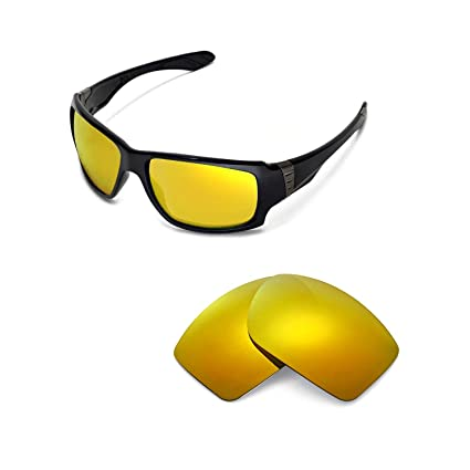 b69a485060e Walleva Replacement Lenses for Oakley Big Taco Sunglasses - 13 Options  Available (24K Gold Mirror