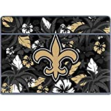 Skinit NFL New Orleans Saints Galaxy Book Keyboard Folio 12in Skin - New Orleans Saints Tropical Print Design - Ultra Thin, Lightweight Vinyl Decal Protection
