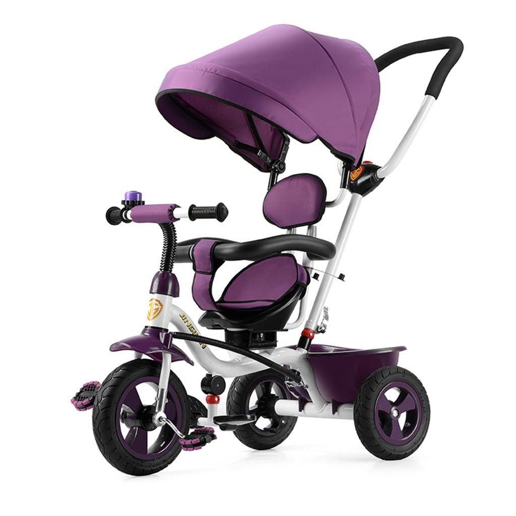 Chariot bébé Tricycle pour enfants - chariot Voiture d'enfant 1-3-5 ans Jardin d'enfants Panier de bébé vélo vélo