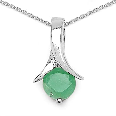 Schmuck-Schmidt-Collier Halskette Smaragd-Anhänger 925-Sterling-Silber-0,90  Karat  Amazon.de  Schmuck 50e940850f