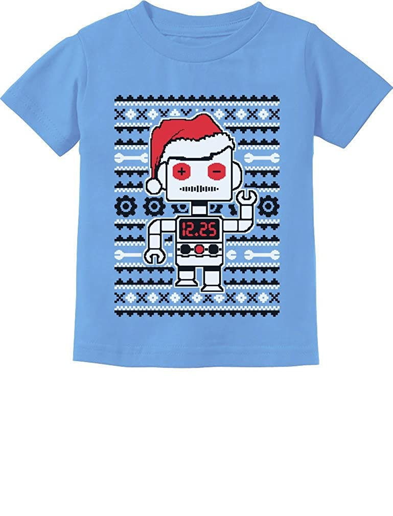 Big Santa Robot Ugly Christmas Sweater Funny Toddler/Infant Kids T-Shirt GhPh3algm5