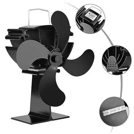 XB AMZ Accionado por Calor Ventilador de Chimenea Ventilador de la Estufa Ventilador del radiador Aumenta