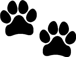 Paw Prints, Black, I Make DecalsPawprints, Paws, Dog, Puppy, Pup, Mutt, Canine, Print, Car, Auto, Wall, Locker, Laptop, Ipad, Notebook, Netbook, Vinyl, Sticker, Decal, Label, Placard, Black