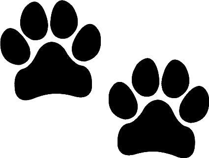 amazon com paw prints black i make decals pawprints paws dog