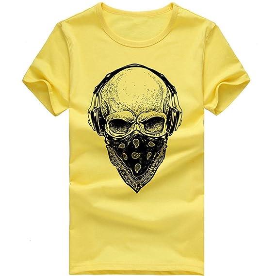 Camiseta Hombres, ❤️ Manadlian Impresión tee Cuello Redondo Tops Camisa Ropa Hombre Barata Deportiva 2018 Ofertas
