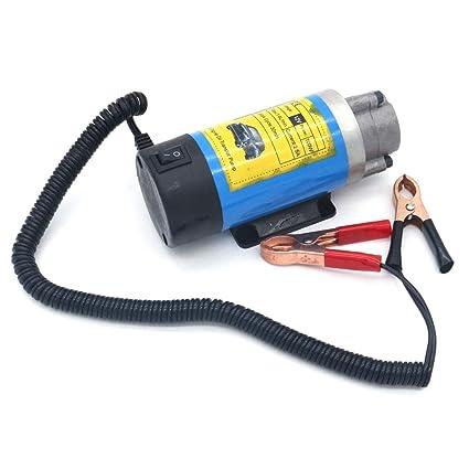 NUZAMAS Bomba de transferencia de aceite de 12 V, 100 W, diésel ...