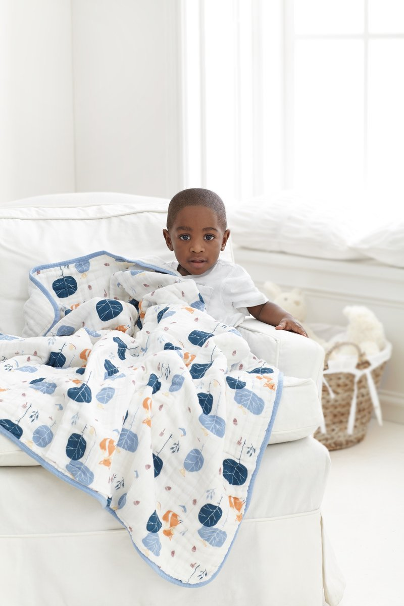 aden + anais Organic Dream Blanket, 100% GOTS Certified Organic Cotton, 4 Layer Lightweight and Breathable, Large 47 X 47 inch, Into The Woods by aden + anais (Image #3)