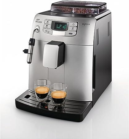 Saeco HD8752/41 - Cafetera Saeco Intelia espresso automática 1900W con intensidad y temperatura del café ajustables, menú de personalización y mantenimiento, limpieza/eliminación de cal automáticas: Amazon.es: Hogar