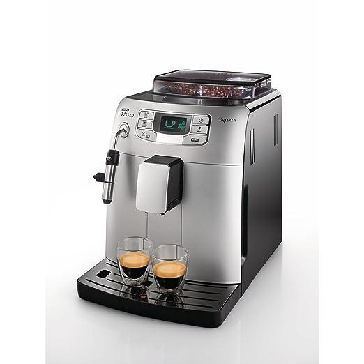 Saeco HD8752/41 - Cafetera Saeco Intelia espresso automática 1900W con intensidad y temperatura del café ajustables, menú de personalización y ...