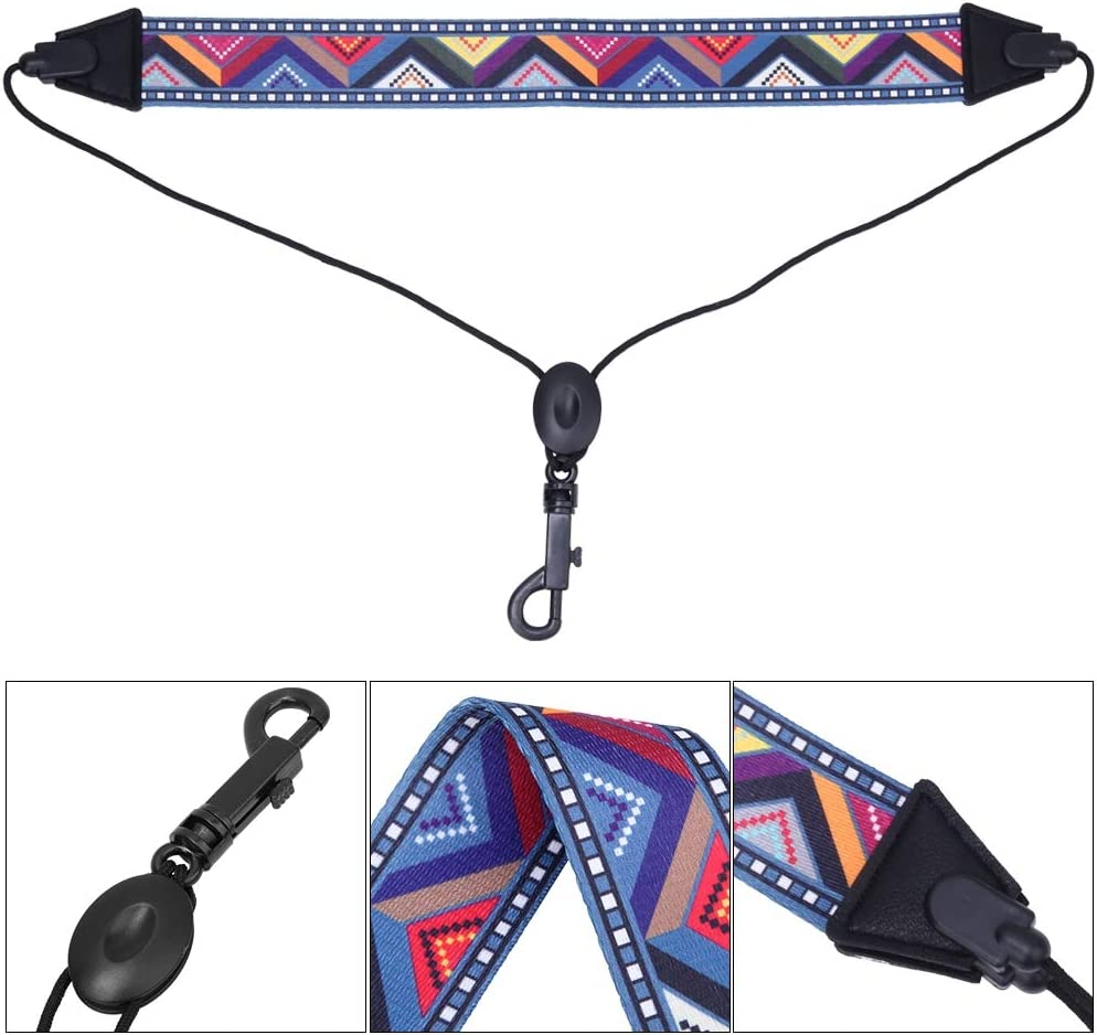 Dilwe Saxophone Strap Adjustable Universal Portable Sax Neck Strap Music Parts for Saxophone