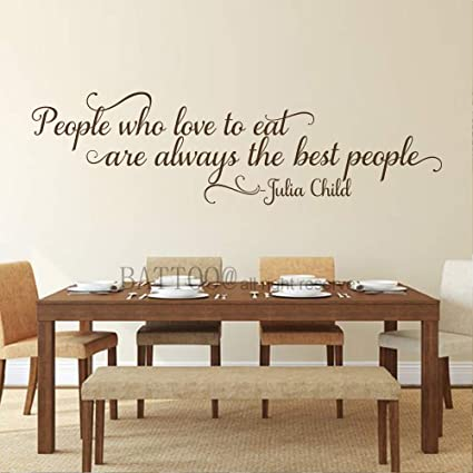 Amazoncom Battoo Wall Quotes Decal People Who Love To Eat