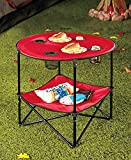 The Lakeside Collection Red Folding Picnic Table Shelf -