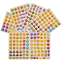 3456 Mini Emoji Emoticon Stickers - Party Favors - 72 Sheets of 48 Stickers - Smiley Parties - Daycare - Doctor - Classroom - Teachers Rewards Craft Activities Supplies