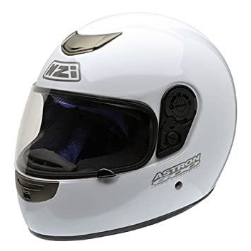 NZI Astron 600 BTMB Casco de Moto con Bluetooth, Blanco, 55-56 (