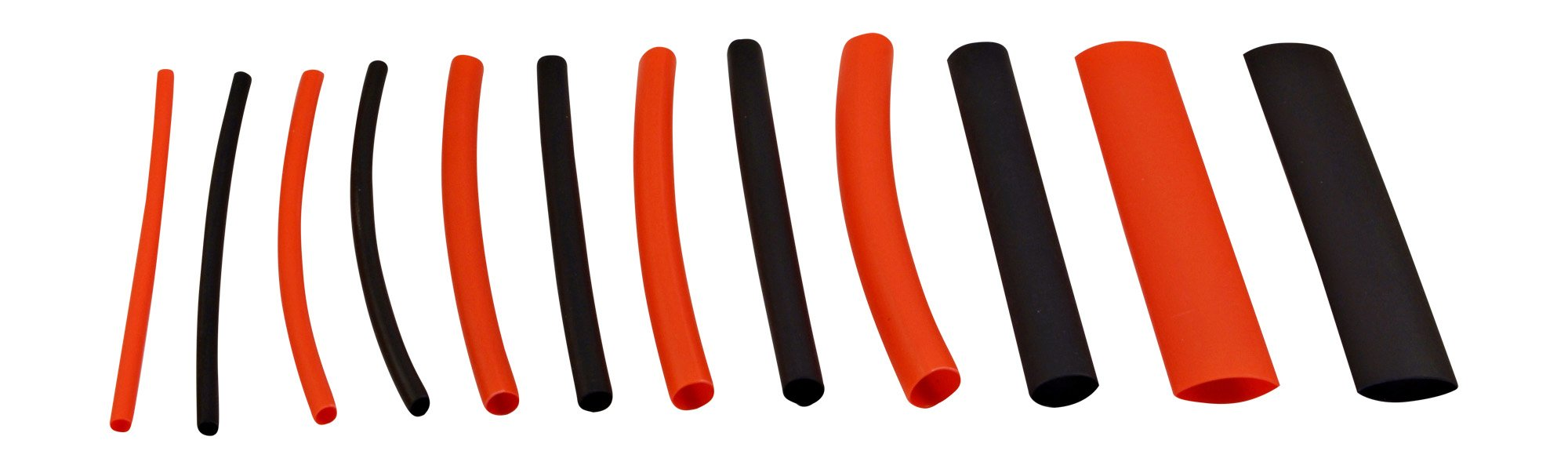 130 PC. Dual Wall Adhesive Marine Heat Shrink Kit - 3:1 Shrink Ratio - Black and Red by Simple Electric Solutions (Image #4)