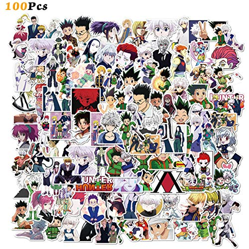 100PCS Hunter X Hunter Stickers Japanese Cartoon Anime Stickers Waterproof Vinyl Stickers for Kids Teens Adults Water…