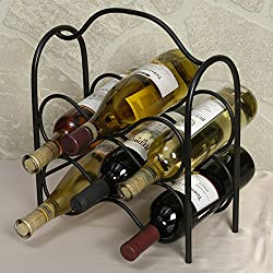 J&J Wire Wine Rack, Holds Six Bottles