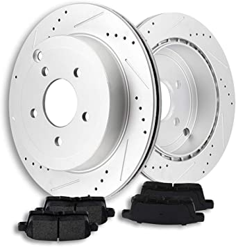 Rear Brake Rotor Disc Premium OE Factory Replacement Fits  2007-2008 Ford Edge