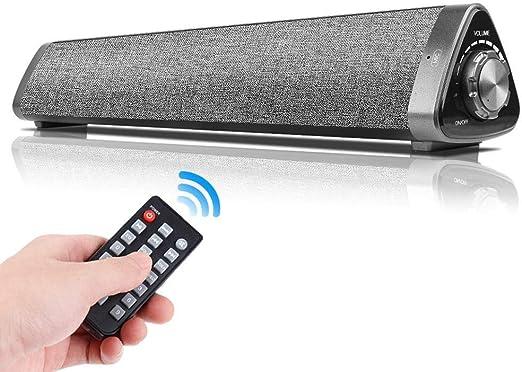 Quskto Bocina Bluetooth, 10W inalámbrica Bluetooth 5.0 Altavoz ...