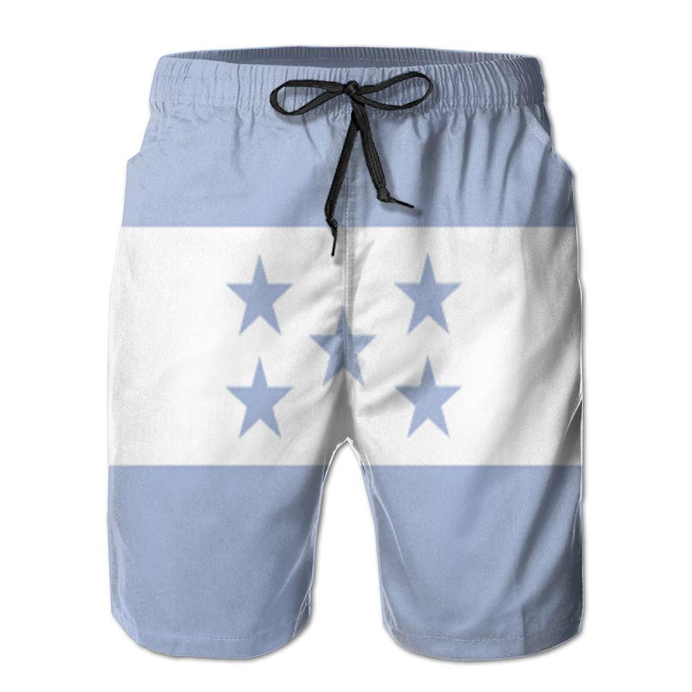 MIPU SHANGMAO Mens Honduras Flag Summer Beach Shorts Leisure Quick Dry Swimming Pants