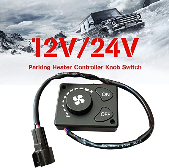 LCD Monitor Switch for Car Diesel Air Parking BessieSparks Heater Controller Black