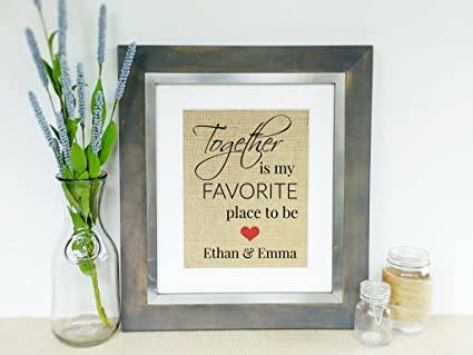 Amazon.com: Personalized LOVE Quote Wedding Gift Idea Bridal Shower ...