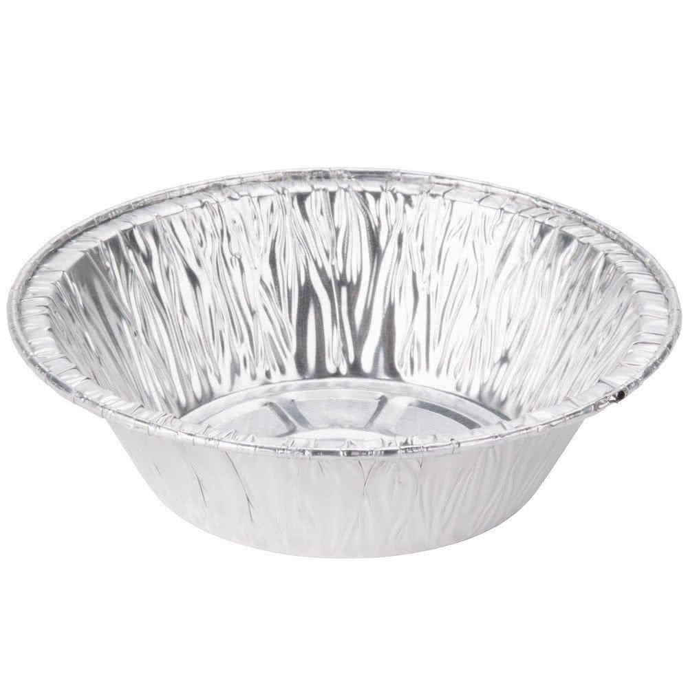 Pactiv 5 3/4 x 1 1/2 Deep Foil Chicken Meat Pie Pan Pot Pie Pan - 50/Pack 12oz