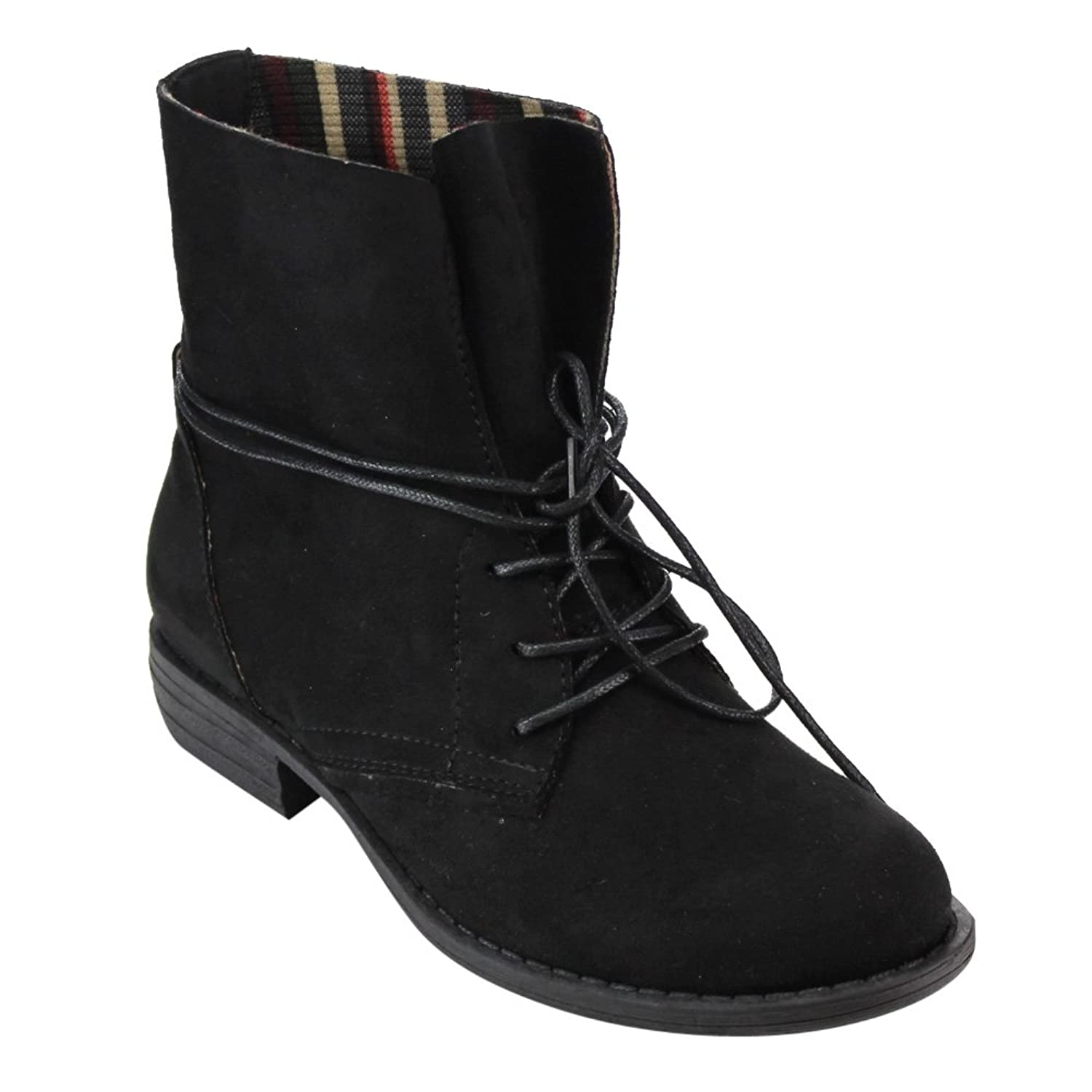 Retro Boots, Granny Boots, 70s Boots  Womens Lace Up Block Heel Ankle Boots $36.13 AT vintagedancer.com