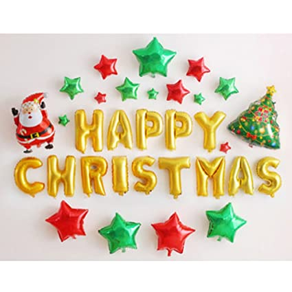 youbedo gold 16 merry christmas letters red green stars dancing santa and christmas tree set