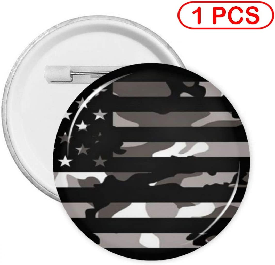 YXXZ American Tactical Camo Flag Round Badge Brooches and Pins Accessories Multiple Packs
