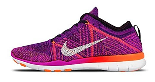 NIKE nike womens free TR flyknit running trainers 718785 sneakers shoes US 8 5 hyper violet total crimson purple 502 Outlet Store