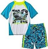 OP Ocean Pacific Boy's Shark Rashguard Swim Set