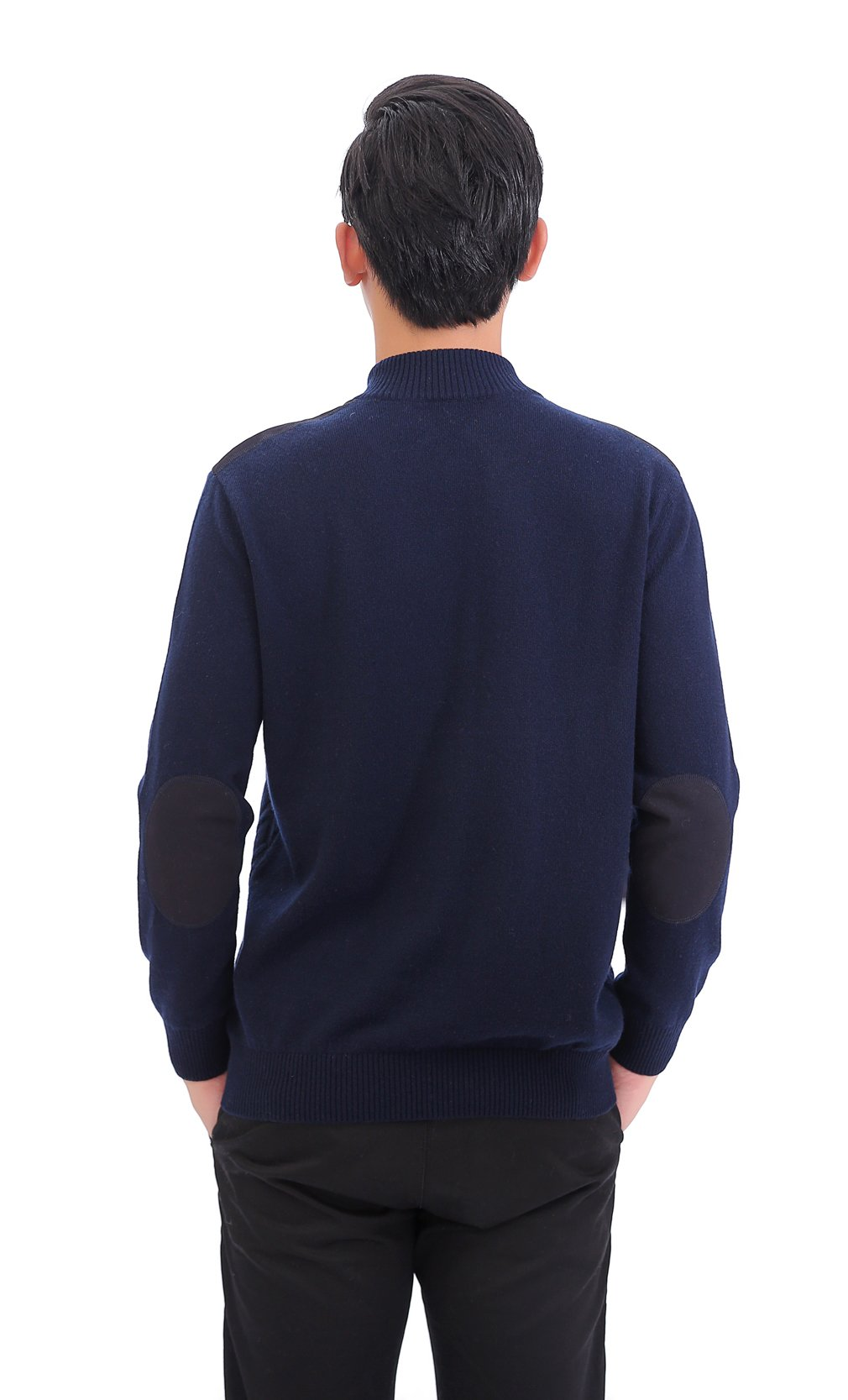 METERDE Men's Knitwear Half Zip Business Casual Cashmere Pullover Sweater X by Cashmere DX (Image #5)