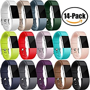 GEAK Fitbit Charge 2 Replacement Bands,Small,14-Pack