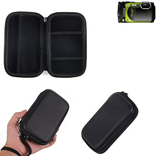 Hardcase, carry case for compact camera Olympus TOUGH TG-870, with space for memory cages, spare battery, charger cage, etc. | shock proof Protective bag light weight - K-S-Trade (TM)