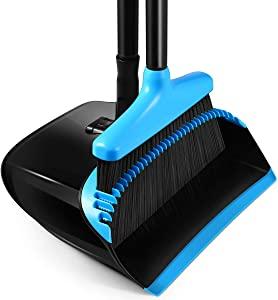 Homemaxs Broom and Dustpan Set, [2020 Upgraded] Broom and Dustpan with 54.7