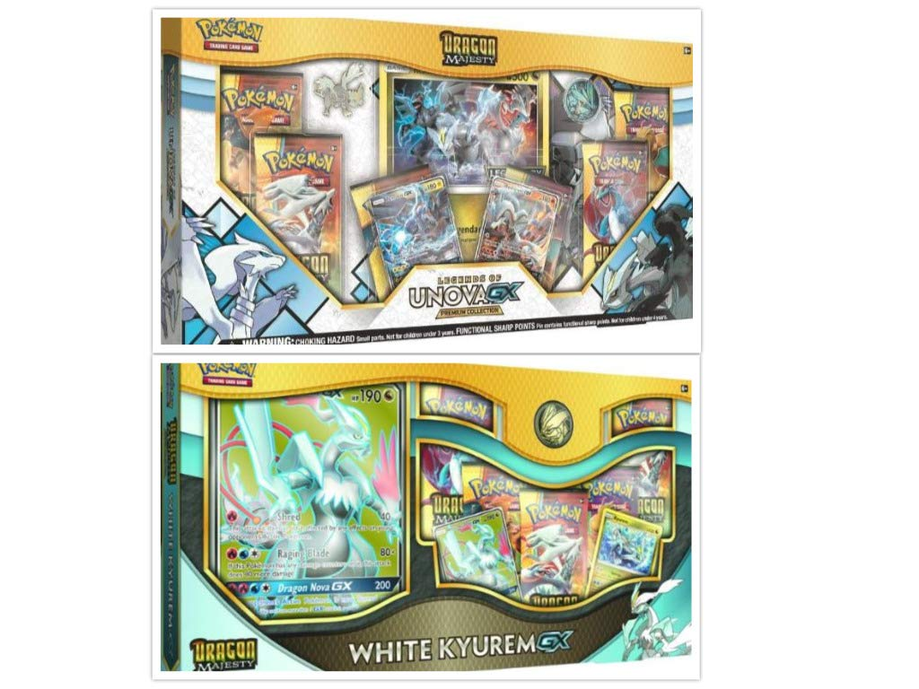 Amazon.com: Pokémon Dragon Majesty White Kyurem GX Box and ...