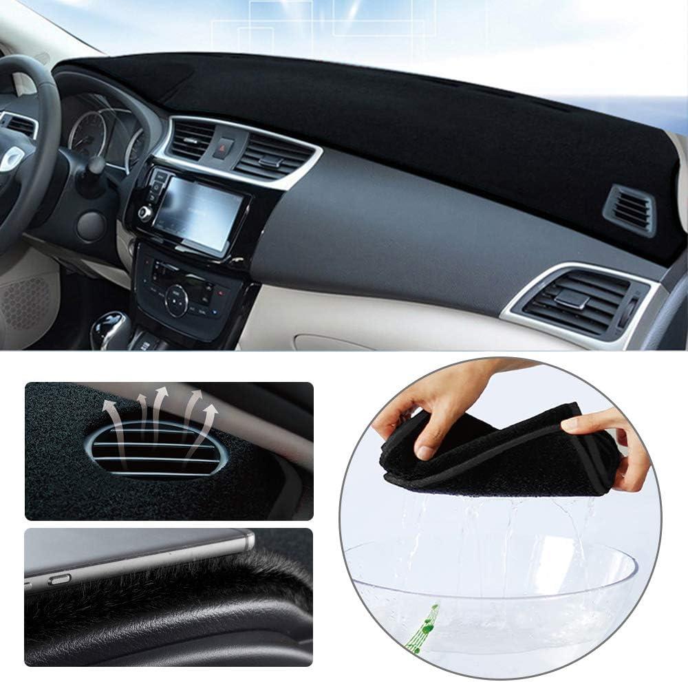 Dashboard Cover for Volkswagen Jetta 2011-2018 Original Car Custom Dash Mat Anti Reflective Heat Resistant Dash Carpet Polyester Black