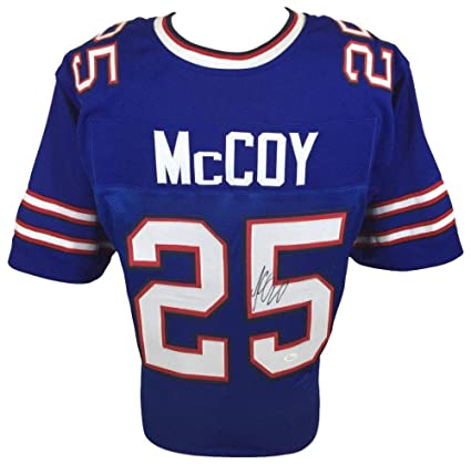 new arrival 1d7be bfaf9 Lesean Mccoy Autographed Signed Buffalo Bills Home Blue ...